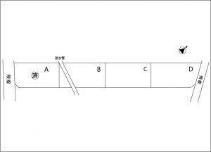 売地01-02-C(売主)伊那市西箕輪 600万円 羽広分譲地C